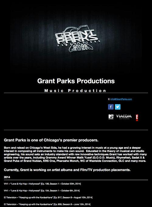 Grant Parks - Music Production