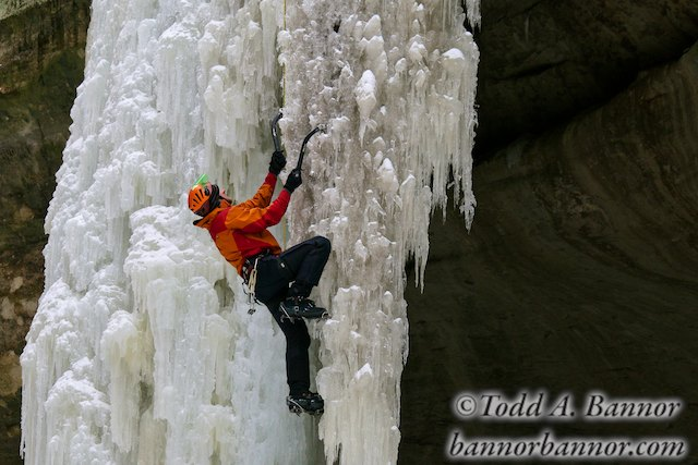 Frozen Waterfalls and Ice Climbers, Starved Rock State Park