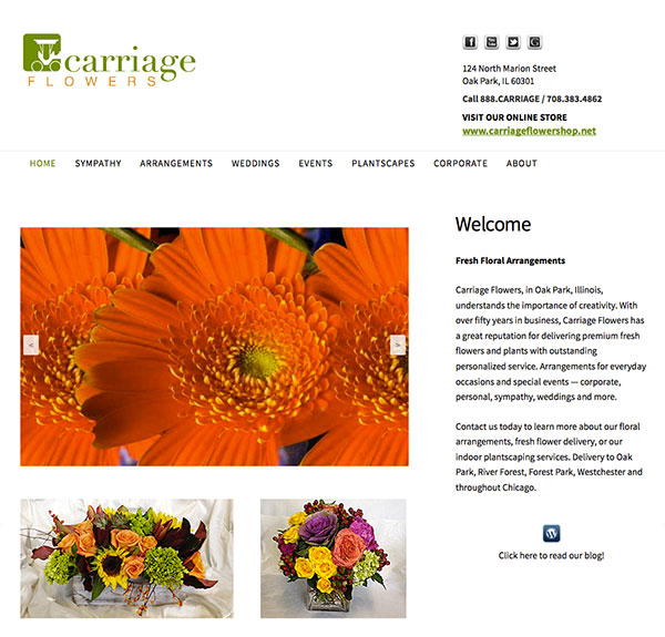 Carriage Flowers Gets A New Look