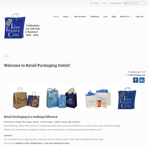 Retail Packaging Outlet Updates Its Look And Adds Ecommerce