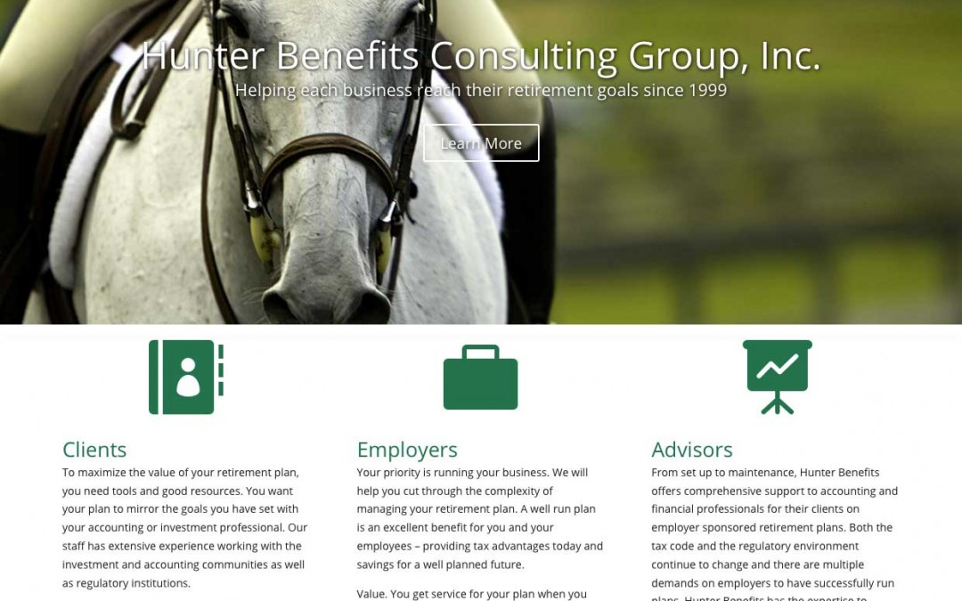 Hunter Benefits Consulting Group, Inc. website refresh