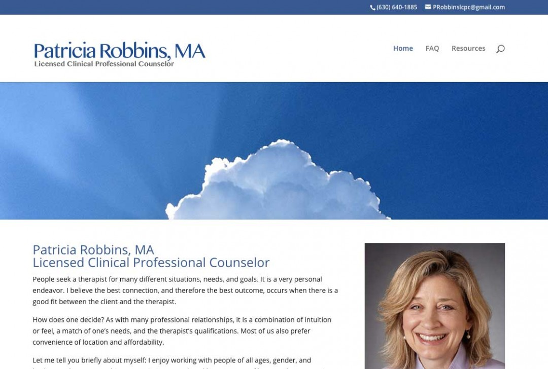 Patricia Robbins, MA Licensed Clinical Professional Counselor
