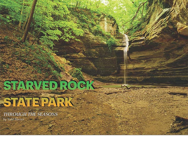 Book cover - Starved Rock State Park Through the Seasons by Todd Bannor